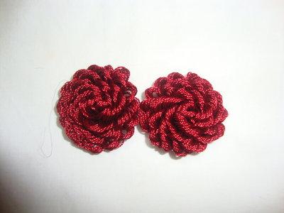 orecchini bottoncino tessuto!!
