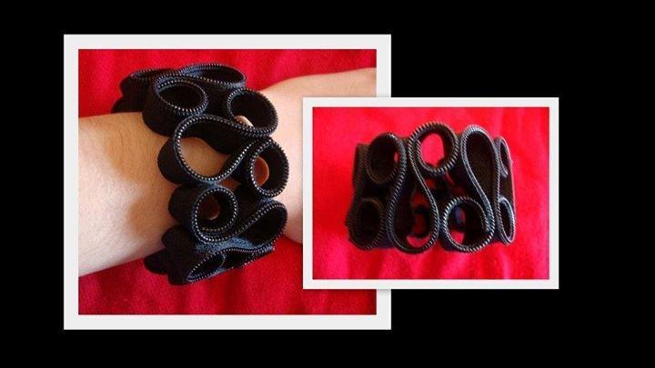 bracciale cerniera nero!