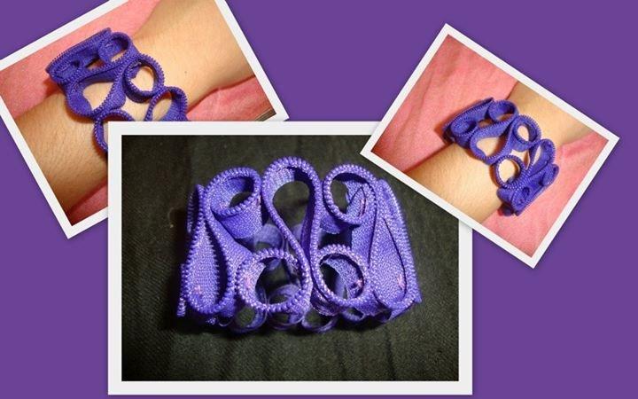 bracciale cerniera viola!!