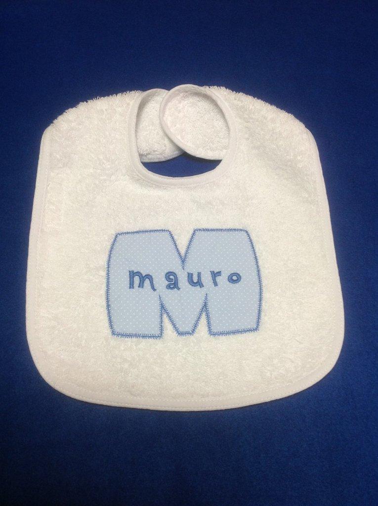 Bavaglia personalizzata con nome - modello Mauro