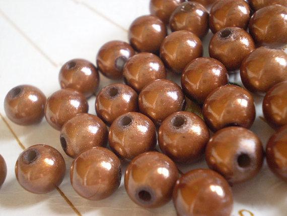 30 perline MAGICHE in acrilico color CAFFELATTE