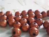 17 Perline MAGICHE in acrilico color BRONZO