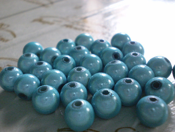 30 Perline MAGICHE in acrilico color TURCHESE