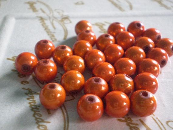 30 Perline MAGICHE in acrilico color ZUCCA