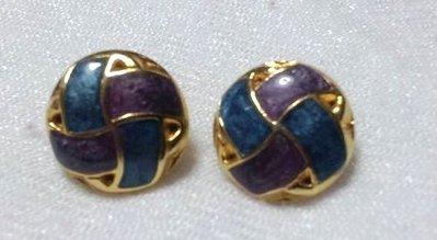 orecchini bottoncino blu e viola!