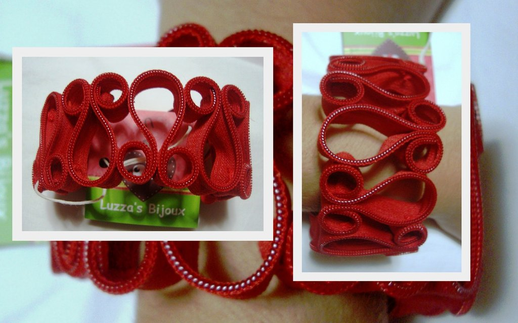 bracciale cerniera rosso!!!