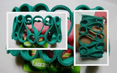 bracciale cerniera verde tiffany!!