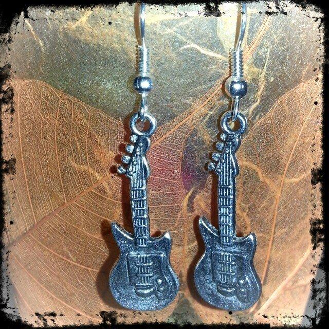 orecchini chitarra