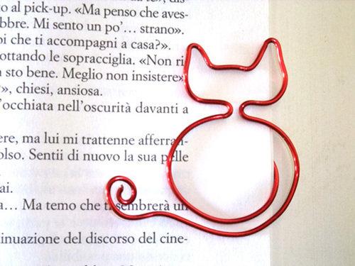 segnalibro gatto rosso