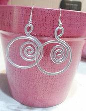 orecchini rotondi con spirale 2