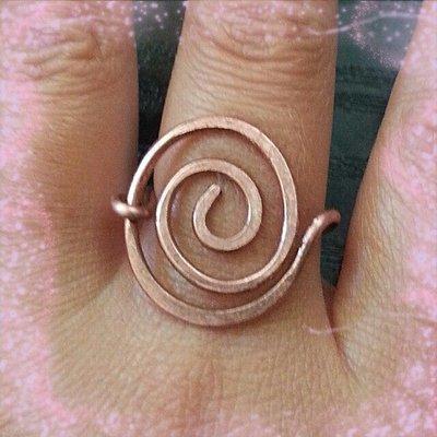 anello spirale rame