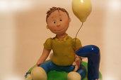 Cake topper per primo compleanno Bimbo
