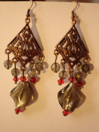 orecchini lampadario
