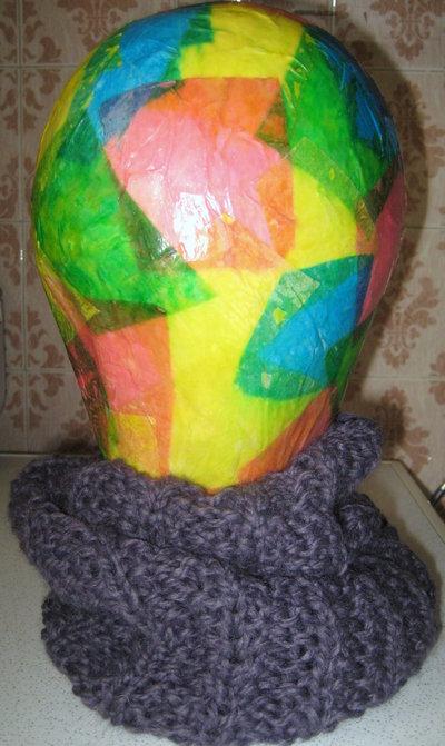 Scaldacollo / cappello lana viola