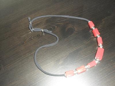 collana  corallo realizzata a mano