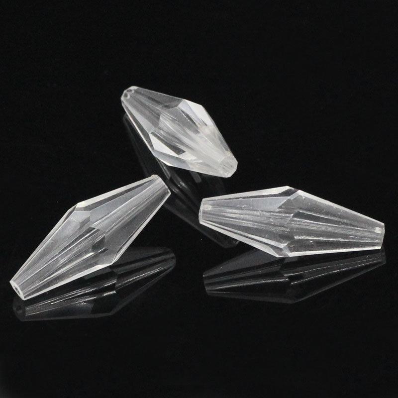 5 Distanziatori Perle Bicono Sfaccettate  25x10mm
