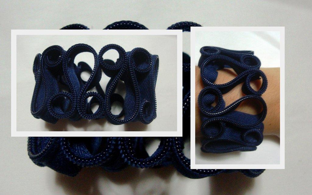 bracciale cerniera blu!!