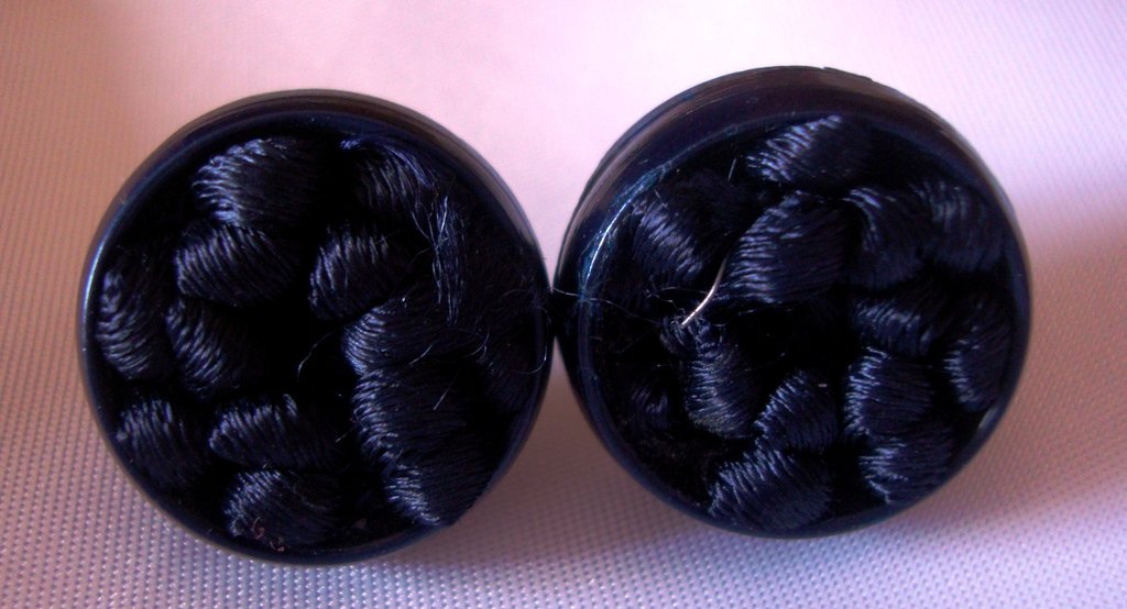 orecchini bottoni blu!!