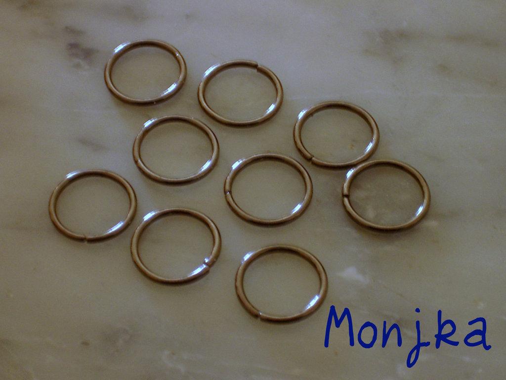 9 anellini color canna di fucile