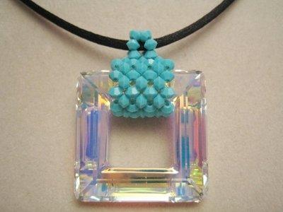 """""""Square"""" - Girocollo in cristallo Swarovski"""