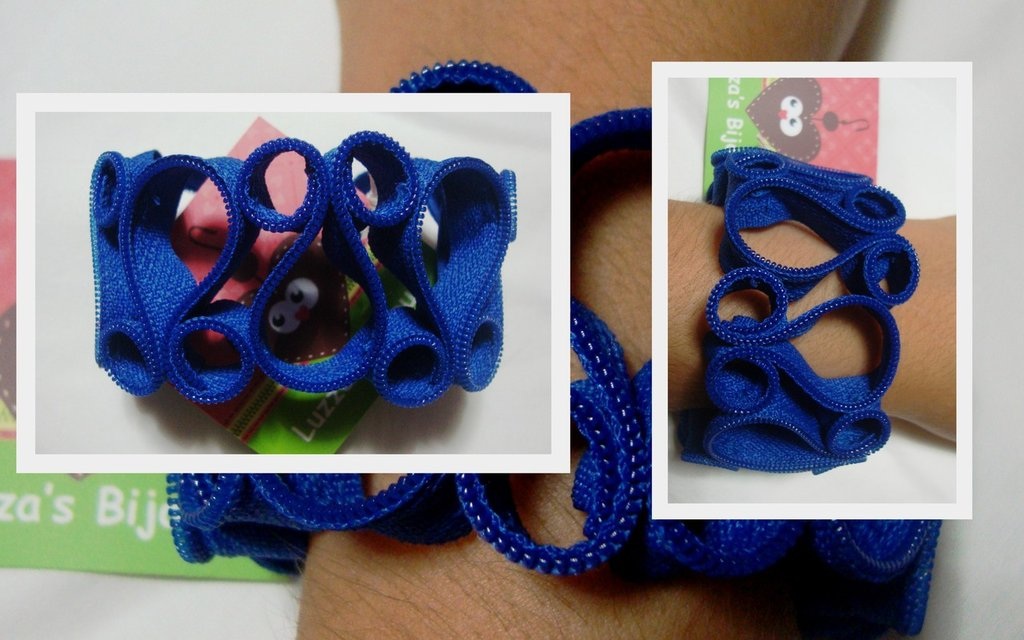 bracciale cerniera blu elettrico!!!