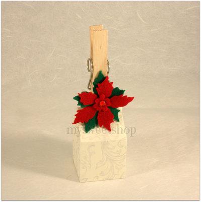 Molletta decorativa chiudi pacco/biglietto o per calendario avvento - Natale