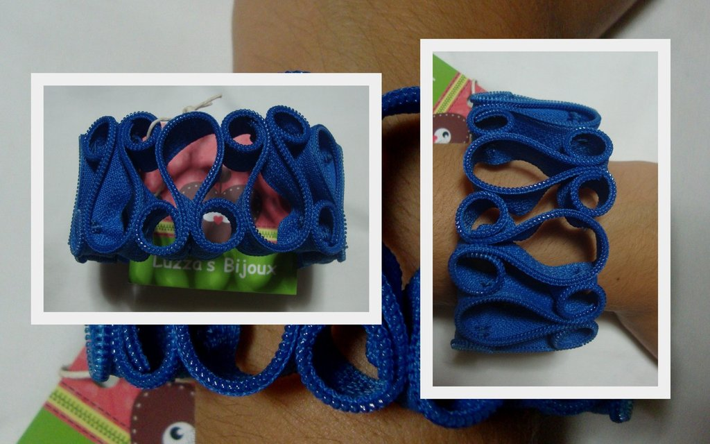 bracciale cerniera blu jeans!!