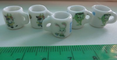 5 Mini Tazzine in Porcellana