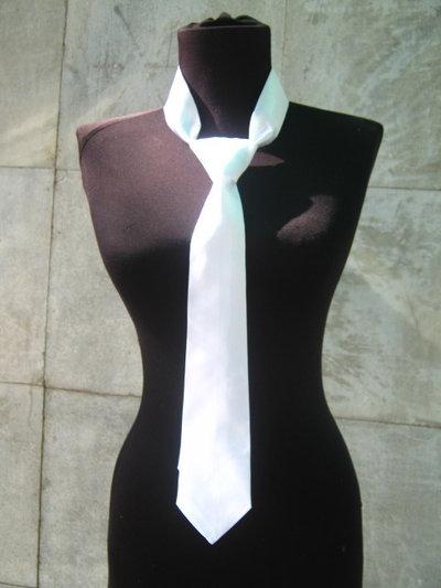 Cravatta signore bianco