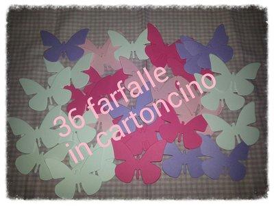 36 farfalle in cartoncino