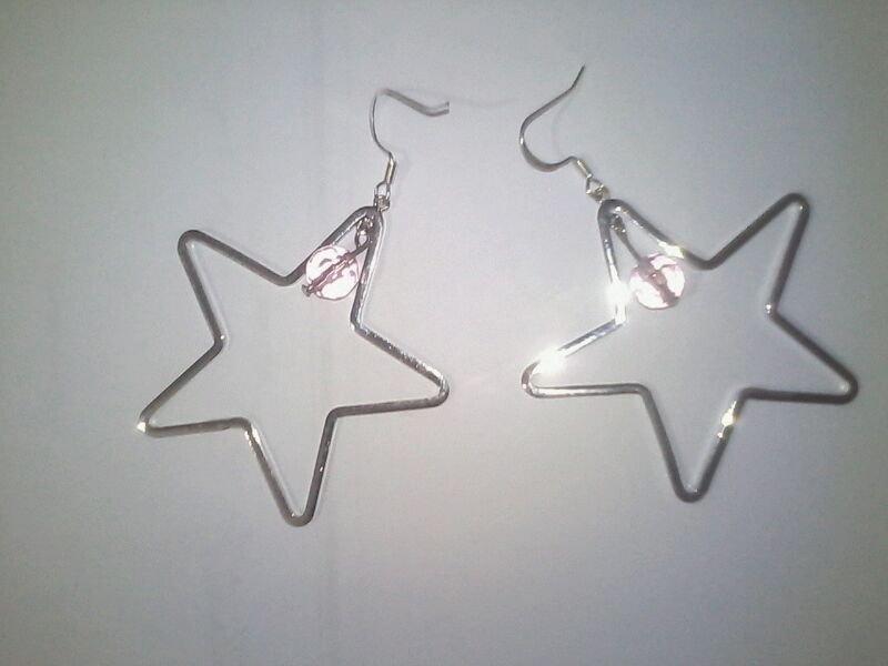 Orecchini a stella con perlina