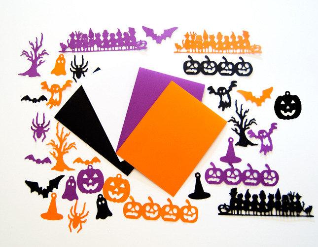 Set creativo Halloween / Halloween Cardstock Embellishments