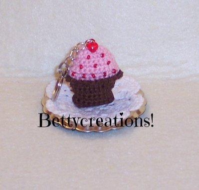 Portachiavi Cupcake Uncinetto