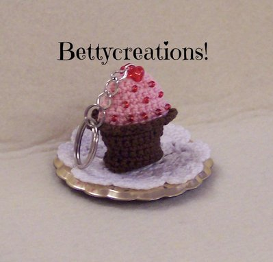 Portachiavi Cupcake Uncinetto Donna Accessori Di Bettycreatio