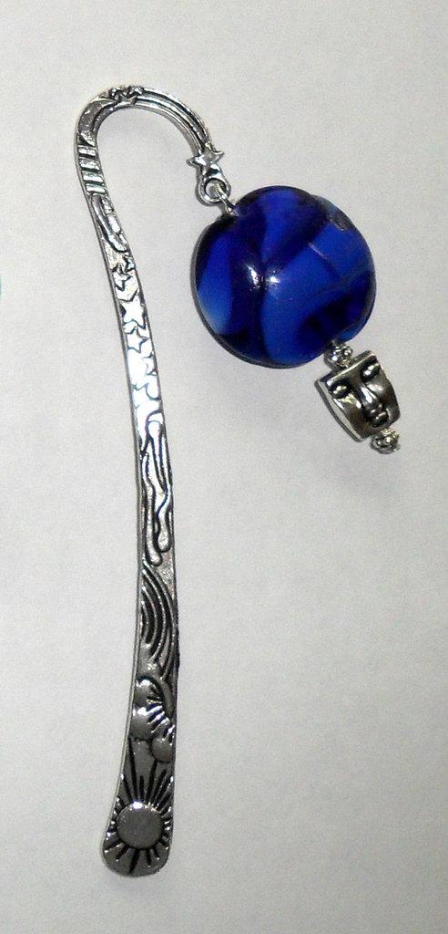Segnalibro con perle in vetro di Murano lavorato a mano - charms beads glass