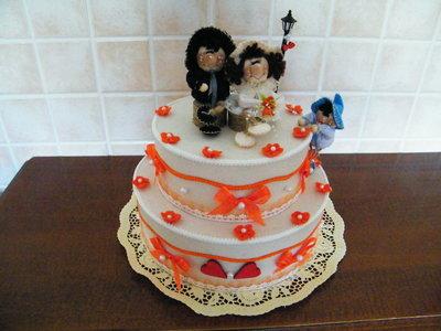 Viva gli sposi! Torta nuziale.
