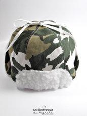 Cappello invernale per Neonato - Mimetico