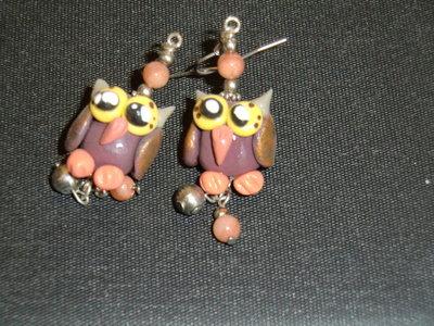 orecchini gufo