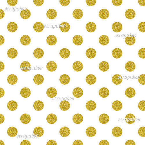 Gold Glitter Polka Dot Pattern Digital Paper