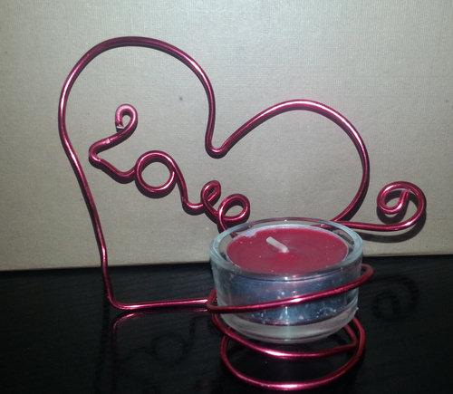 porta candela cuore love