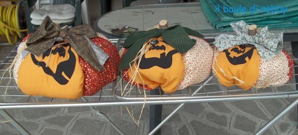 Zucca ornamentale in stoffa