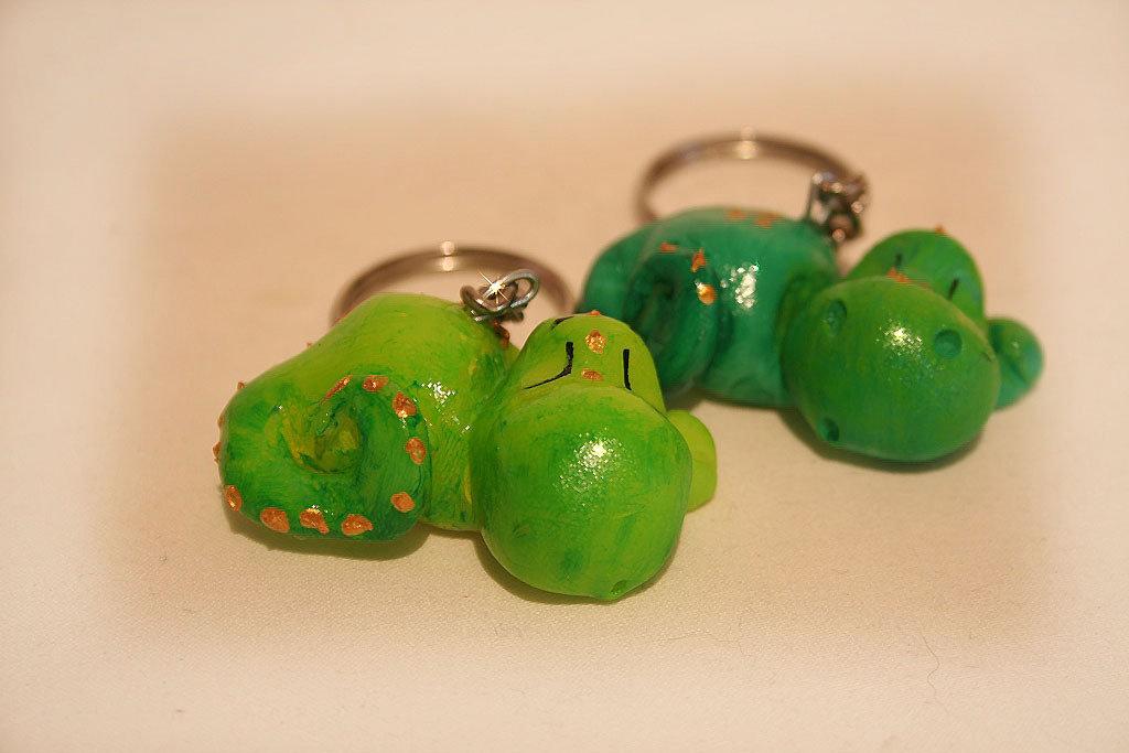 Baby dragoon keyring colore verde