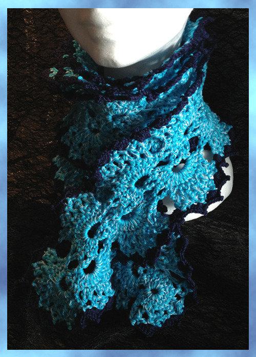 Sciarpa in cotone azzurro blu