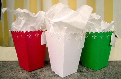 SALDI Scatole per regali / dolcetti 3 pezzi