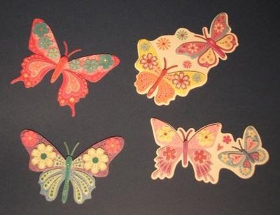Collezione già pronti!!! - Farfalle 3D fustellate - scrapbooking e cardmaking