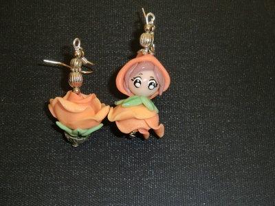 orecchini folletto-rosa