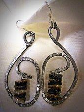 orecchini in ferro battuto