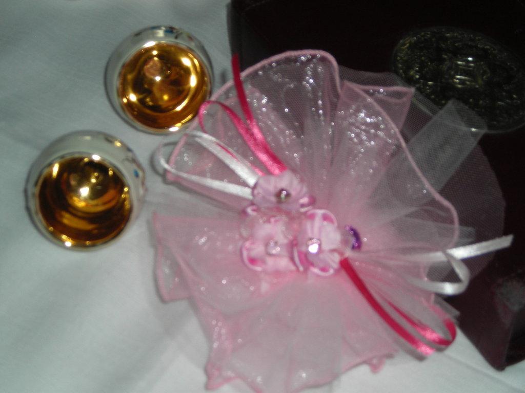 Sacchettino per Battesimo Rosa