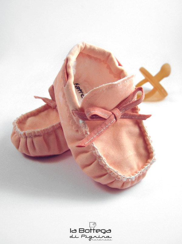Mocassini invernali per Neonato - Rosa