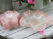 Servizio vintage in vetro rosa